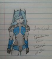 Cybertronian Lucy Tenshi -Colored- by Lil-9