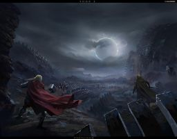 [THOR2] redsteam 2d loading screen svartalfhei by 0BO