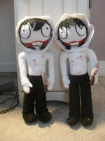 Jeff the killer Plushies by m-sharlotte