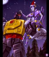 NPS and Grimlock by dcjosh