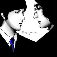 McCartney Lennon by Ayaselandia