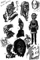 TES - Dunmer sketches by Izz-noxfox