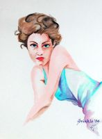 Watercolor series 1.1 Blue by jensequel