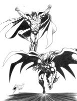Superman and Batman by Lightwolf-of-GOD