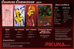 Coloring Commission Price-Sheet 2014 by Pikuna