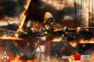 Heart on Fire - Assassin's Creed 4 : Black Flag by SimoneFerraroGD