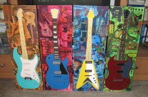 4 Guitars by paintintheneck