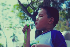 Blowing bubbles by amplified27