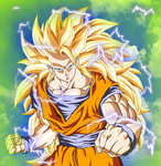 Goku ssj3 by MirrorFace - color by Dragon2326