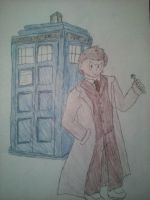The 10th Doctor Who ( David Tenant) by SuperdarksideX5