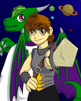 The amazon and the dragon by Keto-Schneider