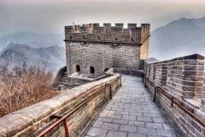 Great Wall at Juyongguan, Beijing China by davidmcb