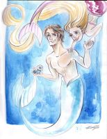 Tangled in the sea by camila-bunny