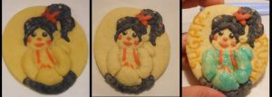 3 Step Vanellope Cookie by JulietTaylor
