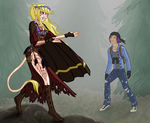 Kala the Huldra and Dave Walker the Human by SassyWritter