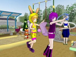 MMD At the Park by LuckyGreen7