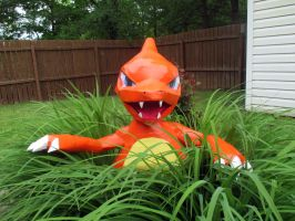 LifeSized Papercraft Charmeleon (Cosplay version) by Arc-Caster135