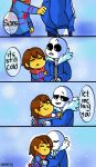 Cold (Sans and Frisk) by Rensaven