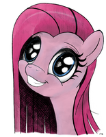 Smiling Pinkamena by RainbowSplashMAP