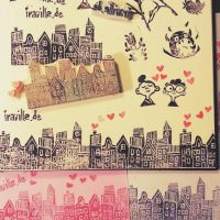Houses rubber Stamps by Iraville