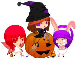 Trick or treat girls by SaulyJames