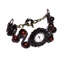 Steampunk Victorian Watch - Brown TigerEye by CatherinetteRings