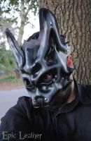Granite Leather Wolf Mask - Beta by Epic-Leather