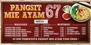Banner PANGSIT MIE AYAM 67 - (3x1m) by ignra