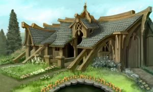 Elven Home by lunatteo