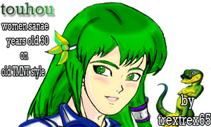 touhou sanae on old TMNT style by trextrex65
