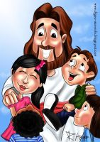 Jesus with kids 3 by samasmsma