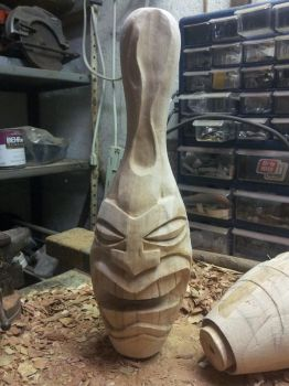 Bowling Pin Tiki by jbensch