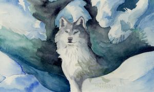 Wolf in Winter by Ishaway