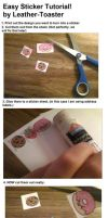 Easy Sticker Tutorial by Leather-Toaster