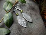 Elven Earrings with Mossy Vesuvianite by QuintessentialArts