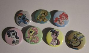 Mane 6 plus Discord Buttons by johnjoseco