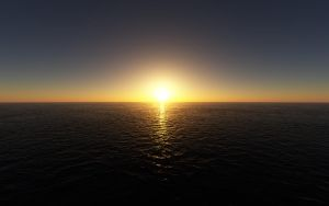 The Last Sunset Over The Sea by debugger20