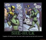 She-Hulk and Wolverine by Miku-Nyan02