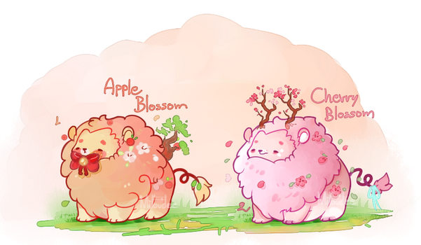 [CLOSED]Spring blossoms mini lions by miloudee