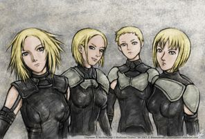 Claymore Fab4 by Yosane