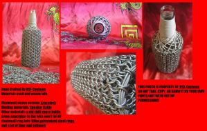 Chainmail Glass Bottle Covered In GraceLock by DSF-Customs