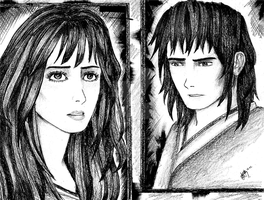 When I Saw You... (B.andW.) by red-lawliet95