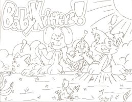 Baby Kritters (8 minute drawing) by FritzyBeat