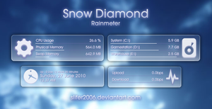 Snow Diamond for Rainmeter by Slifer2006