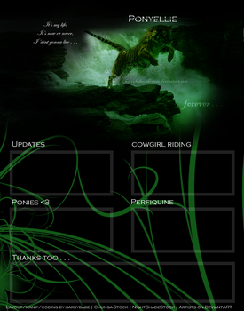 Layout for Ponyellie by HoofBeat-Graphics