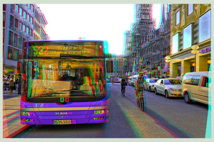 Public Transport of Munich 3D ::: HDR Anaglyph by zour