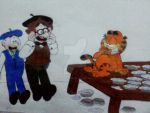 Pierre Andre and Garfield by maskedsmurf