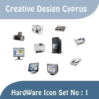 HardWare Icon Set . 1 by cyprus13