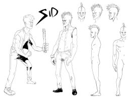 SiD character model sheet by MATking