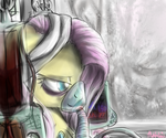 Fluttershy after the storm by manfartwish